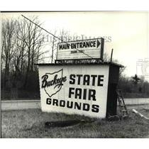 1980 Press Photo Buckeye State Fair sign in Geneva - cvb02705