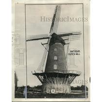 1929 Press Photo Antique Dutch Windmill. - cva83138