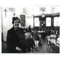 1985 Press Photo Sister Kathleen Kilbane, West side Catholic Center - cva76601