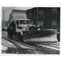 1972 Press Photo New snow plow gets Christmas big snow - cva77670