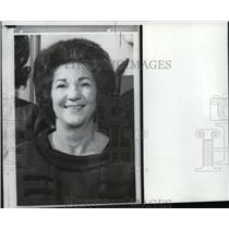 1966 Wire Photo Mrs. Rhodes in Univ. Hospital for treatment of cardiaccondition
