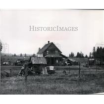 1970 Press Photo Old homes on Spokane Indian Reservation - spa02626