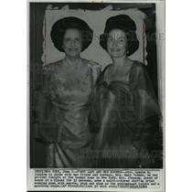 1966 Wire Photo Mrs. Johnson with her friend on her arrival in New York