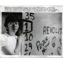 1969 Press Photo Richard Stolman birthdate was no. 1 slot in the draft Lottery