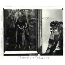 1982 Press Photo Gerri Willis, a reporter at the Lima News - cvb03259