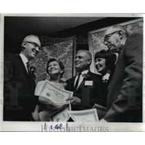 1969 Press Photo New Members of The Oregonian Quarter Century Club - orb12400