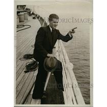 1934 Press Photo Josef Bulin of Vienna won trip to America from Kleinen Blattes