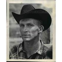1964 Press Photo Mark Schricker Oregon Rodeo Cowboys - ora78022