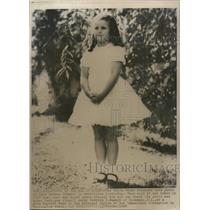 1966 Wire Photo Luci Baines Johnson at the age of eight, now will marry Nugent