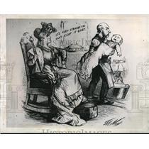 1947 Press Photo Cartoon drawing by Thomas Nast in 1869, the Women's Kingdom