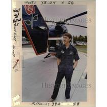1990 Press Photo Mike Moffitt Life Flight Pilot - ora62580