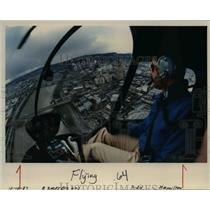 1987 Press Photo For $210 for four passengers, pilot Dan Deyoe will fly you off.