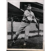 1932 Press Photo Bob Bergen St Louis Browns spring training at San Antonio TX