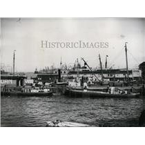1938 Press Photo Main Docks at Amsterdam on the River Y in Northern Holland