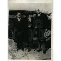 1929 Press Photo Professor August Koehl, Margaret & Alfred Koehl Family of Pilot