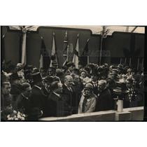 1927 Press Photo Edda Mussolini Daughter of Italian Premier Christens Augustus