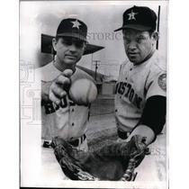 1966 Press Photo Houston Astro manager Grady Hatton, pitcher Robin Roberts