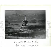 1983 Press Photo Air Graphics uses three lightweight helicopters - ora95651