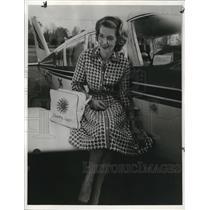 1966 Press Photo Shelia Scott, British around the world flier and holder of 13