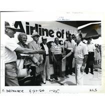 1986 Press Photo Saburo Sakai Former Japanese Flying Ace - ora75905