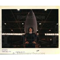 1990 Press Photo Major Deborah Messecar of the 142nd Fighter Interceptor Group