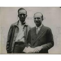 1929 Press Photo Chamberlin & Levine after record breaking flight  - nee89422