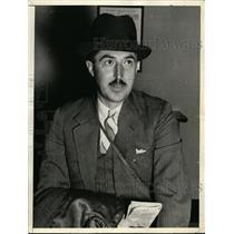 1938 Press Photo Haitian Dominican Dispute US Amb R Henry Norweb - nex96862
