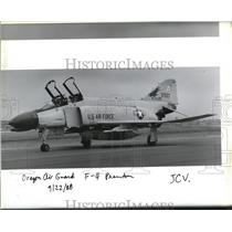 1988 Press Photo Oregon Air Guard F-4 Phantom - ora99966