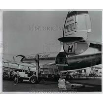 1957 Press Photo Flying Tiger Line-cargo service from Portland to Chicago