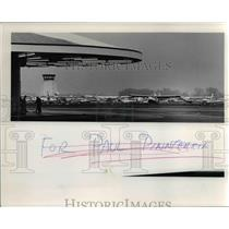 1978 Press Photo Planes packed at Portland-Hillsboro Airport - orb16583
