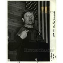 1986 Press Photo Benjamin Christian Zimmerman, a pilot and Lutheran minister