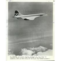 1985 Press Photo Concorde will makes its inaugural flight from London - orb09388