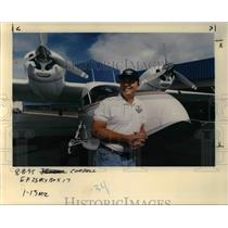 1995 Press Photo Al Nordgren Airplane - ora65053