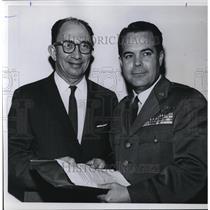 1960 Press Photo Brig. Gen. E. B. Lebailly, deputy chief of information for U.S