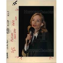 "1991 Press Photo Madeleine ""Mimi"" Tompkins tells a Portland audience - ora88023"