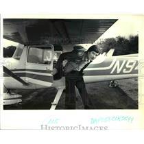 1979 Press Photo Dave Mickel & His Plane - ora62093
