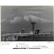 1990 Press Photo Planes at Portland International Airport - orb36343