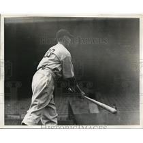 1937 Press Photo Kemp Wicker of New York Yankees at bat - nes41502 - nes41502