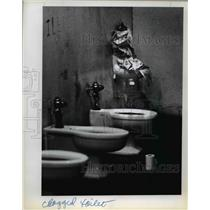 1978 Press Photo Rocky Bulle Jail unsanitary toilets for 90-100 inmates