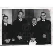 1968 Press Photo Philip Abraham, Edmund Jordan, J.Labadie, Philip Bagley