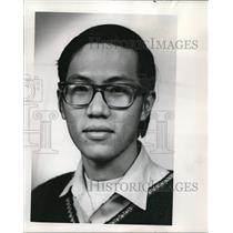 1973 Press Photo Quoc Hung Tran South Vietnamese Student - ora90138