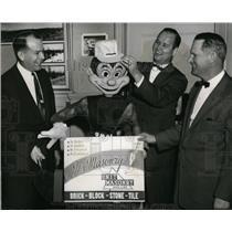 1957 Press Photo Paul Nutt, Kevin Cadigan & Ray Wilmer of Unit Masonry Assoc