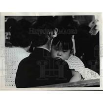 1977 Press Photo Kimberly Halstead One of the Youngest Petitioners at US Citizen