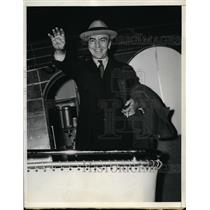1937 Press Photo Capt Eddie Rickenbacker War Time Ace Pilot - nex98464