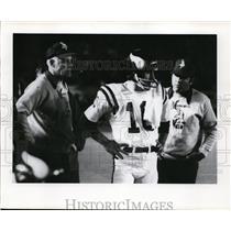 1975 Press Photo Bud Grant & Fran Tarkenton of Minnesota Vikings - nes42889
