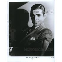 1931 Press Photo Clark Gable In When The Lion Roars - orx01043