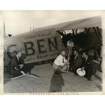 1930 Press Photo Backers of Chicago Record Endurance Flight Majewsski Conroyd