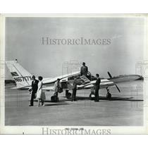 1966 Press Photo Cessna N6717X Aircraft on Ground - nex99745