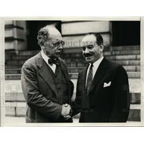 1928 Press Photo Dr Herman Velarde Peruvian Amb & Carlos G Davila Chilean Ambass