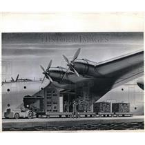 1945 Press Photo Artist Sketch of Air Cargo Plane - neb37942